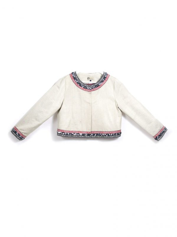 Decorated Short Jacket Pearl
