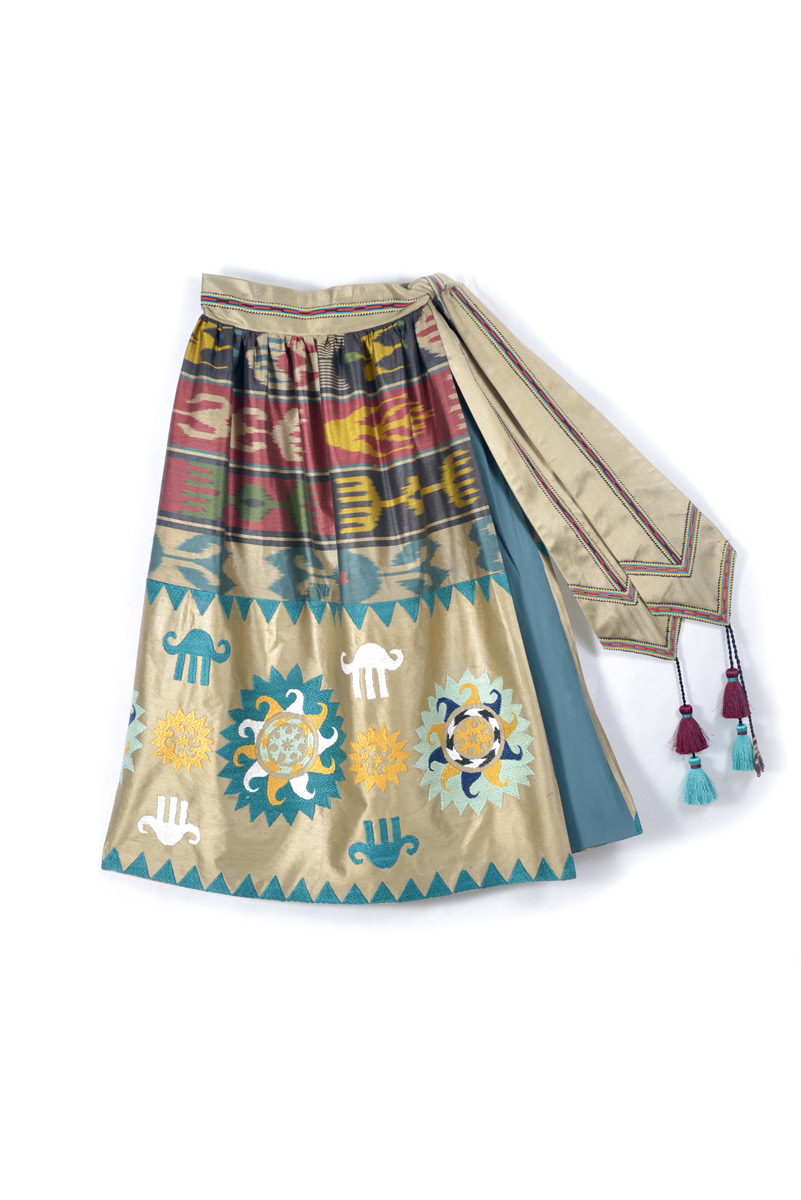 Embroidered Wrap Skirt IK021