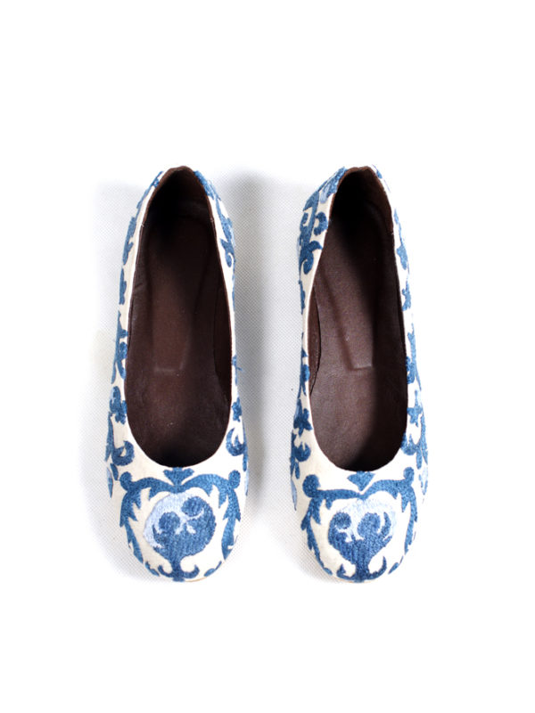 Embroidered-Flats-Blue-Pomegranate