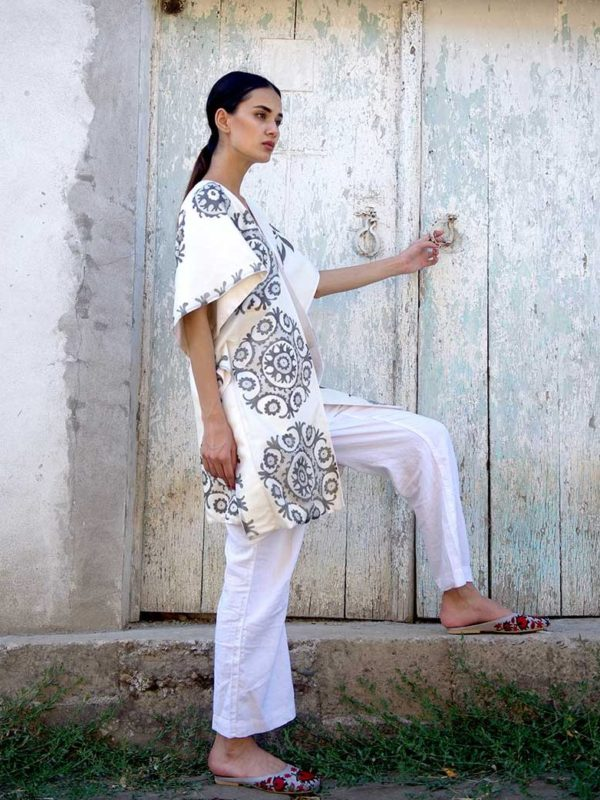 Silk Batik Vest Reversible