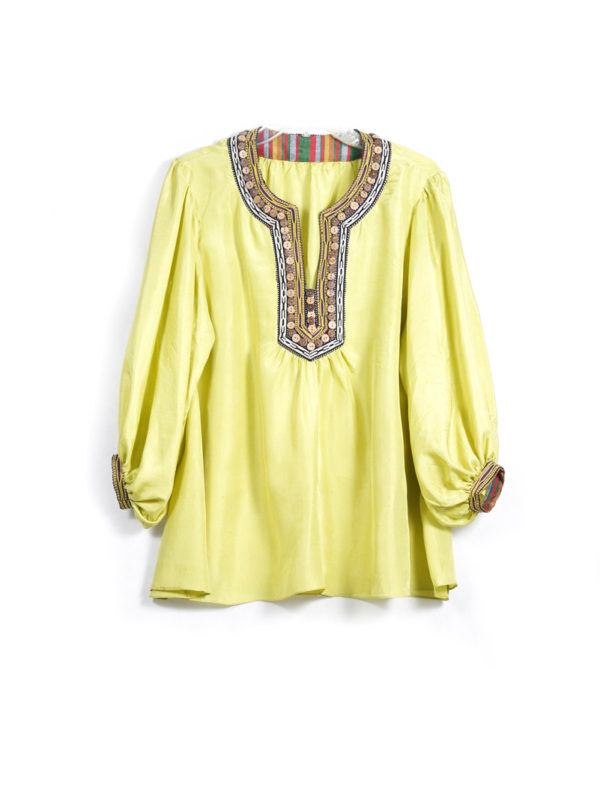 Decorated Silk Top