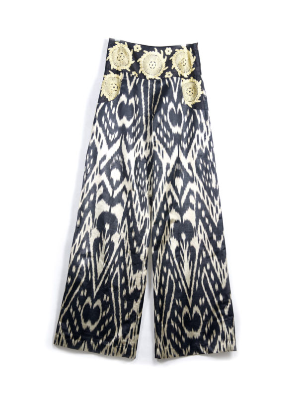 Ikat Wide Leg Pants