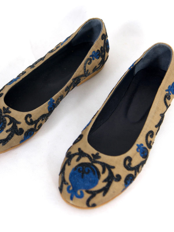 Hand Embroidered Suzani Flats