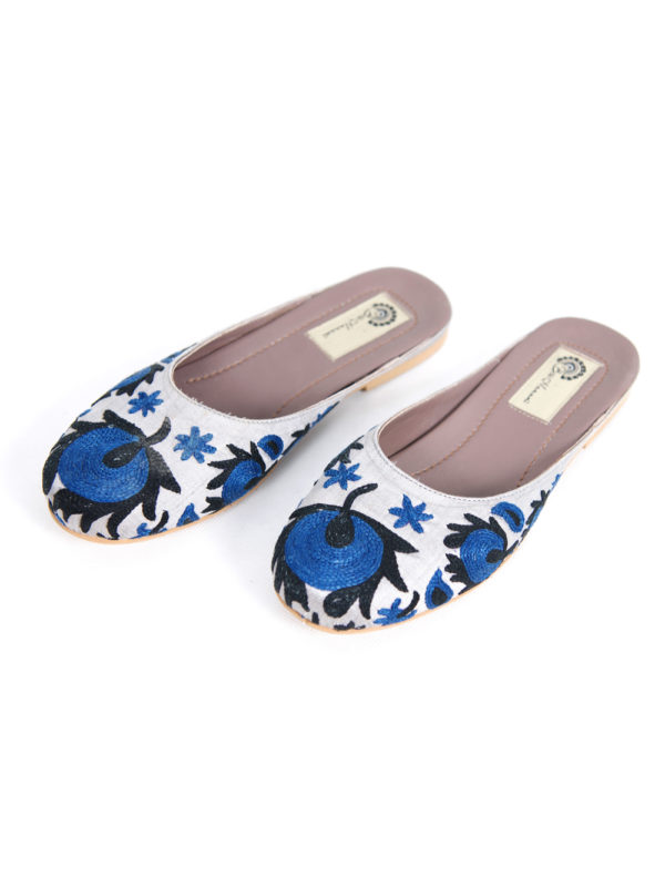 Suzani Slipper | Blue Pomegranate