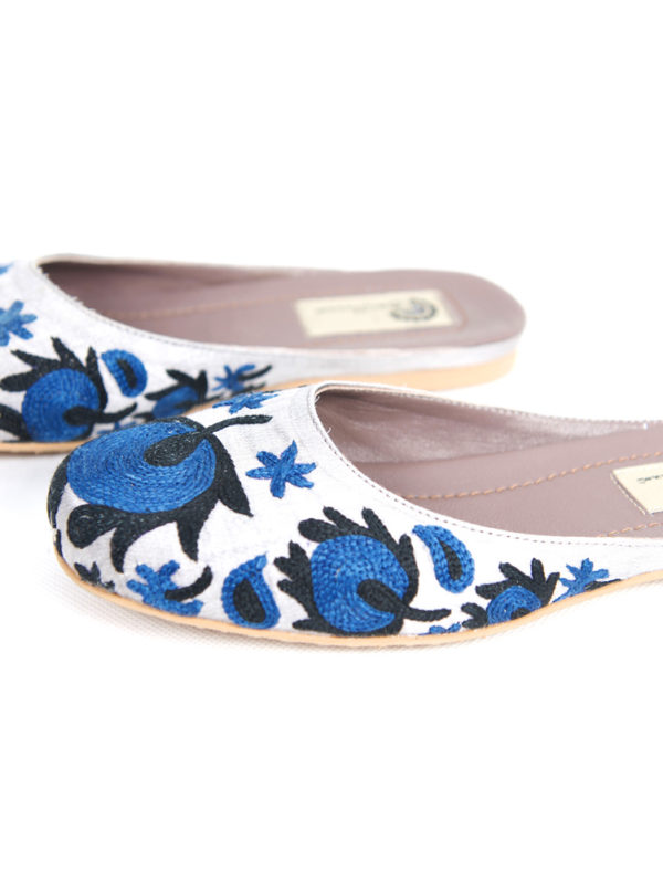 Suzani Slipper | Blue Flower