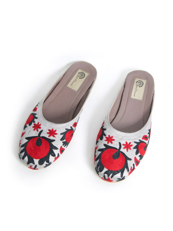 Hand Embroidered Suzani Slippers