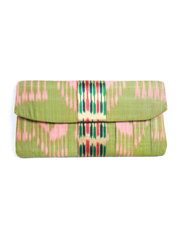 Ikat Clutch with the Band