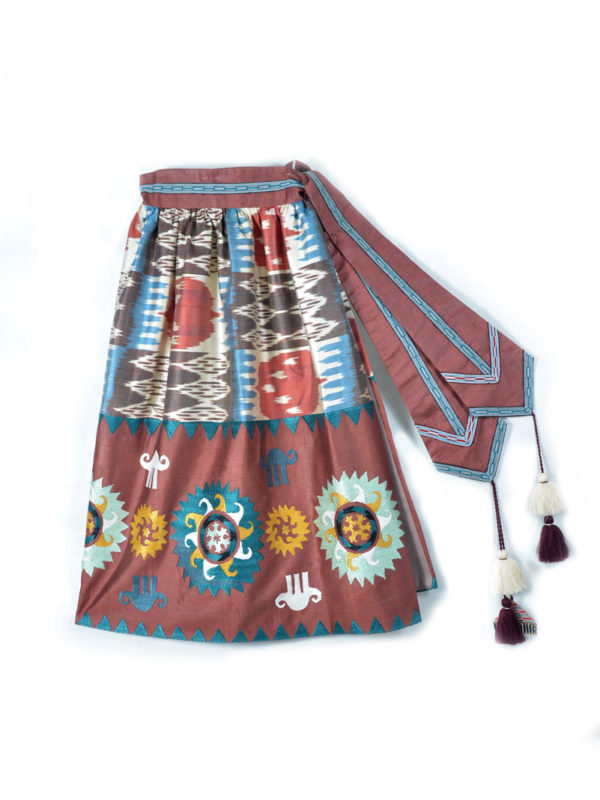Hand Embroidered Wrap Skirt IK477