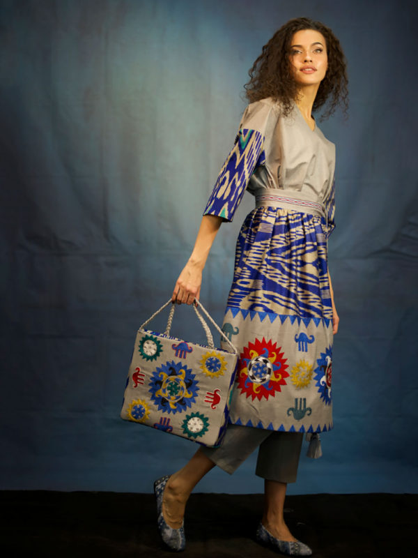 Hand Embroidered Ikat Wrap Skirt IK002