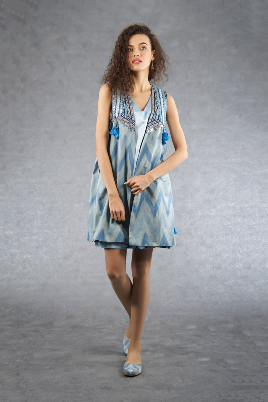Decorative Short Ikat Vest IK513