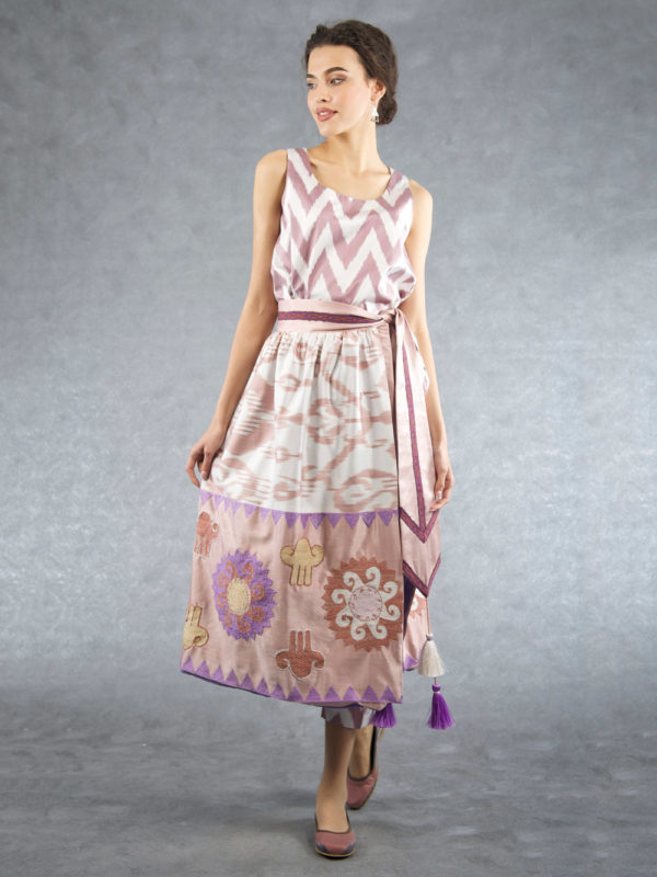 Ikat Decorated Embroidered Skirt IK507