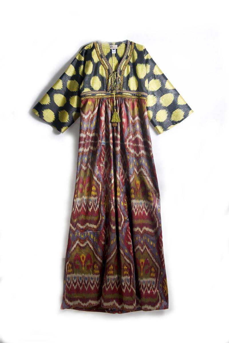 Kimono Style Ikat Dress
