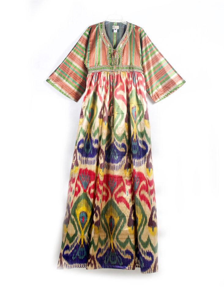 Kimono Style Dress Ikat Maxi