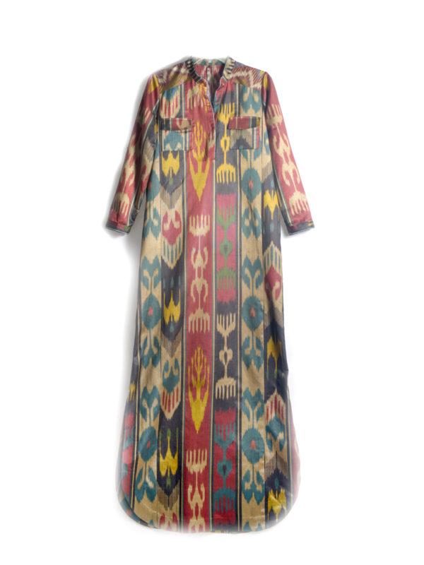 Khadija Silk Ikat Dress