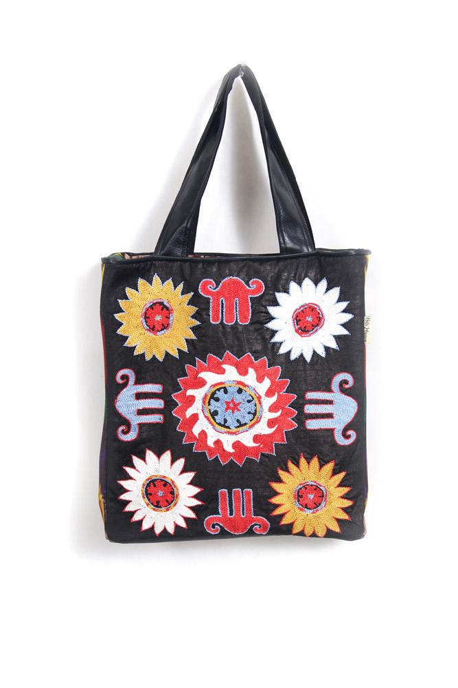 Sanobar Embroidered Tote   Elephant Suzani Design ...