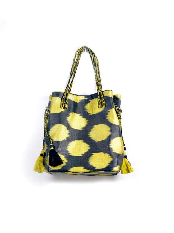 Ikat Bag with Tassels IK051