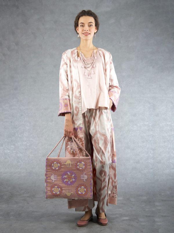 Mohish-Ikat-Embroidered-Robe-with-Sash