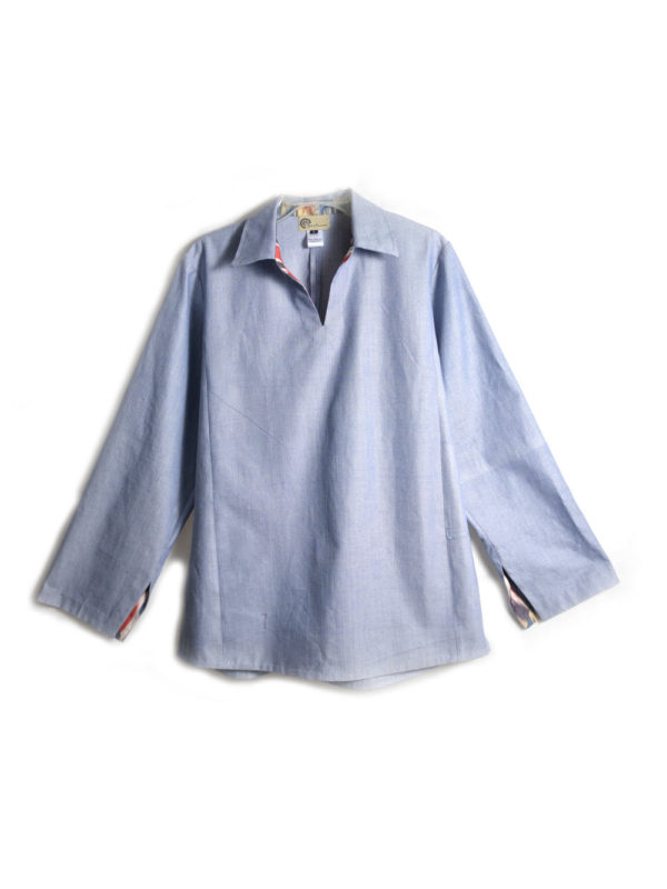 Men's Ikat Shirt Cotton I Blue