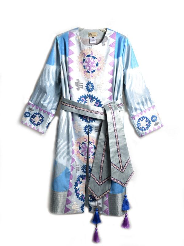 Madina Embroidered Ikat Jacket IK510