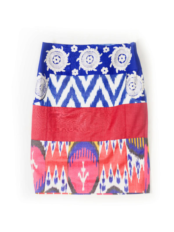 Ikat Embroidered Pencil Skirt IK492 Combo