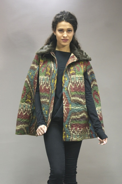 Quilted Ikat Cape