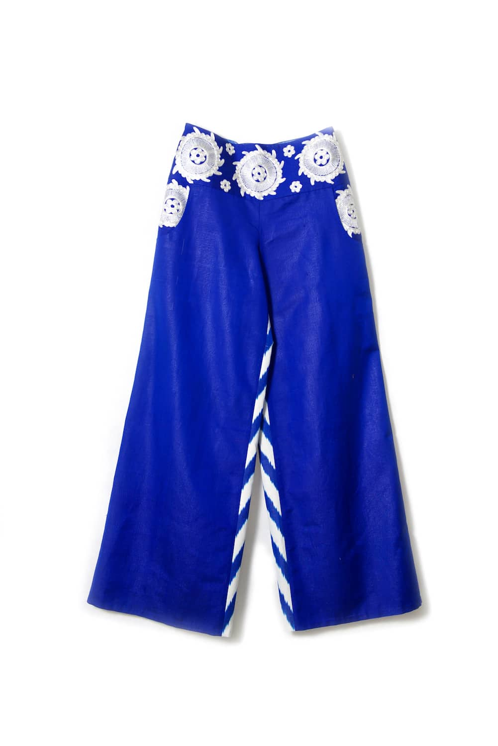 Ikat Pants with Embroidery