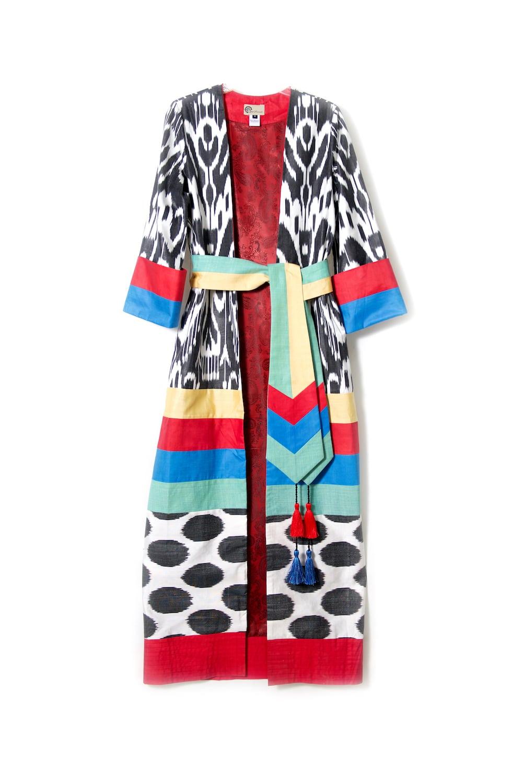 Ik347 With Ikat Sash Colorful Robe 8wP0Okn