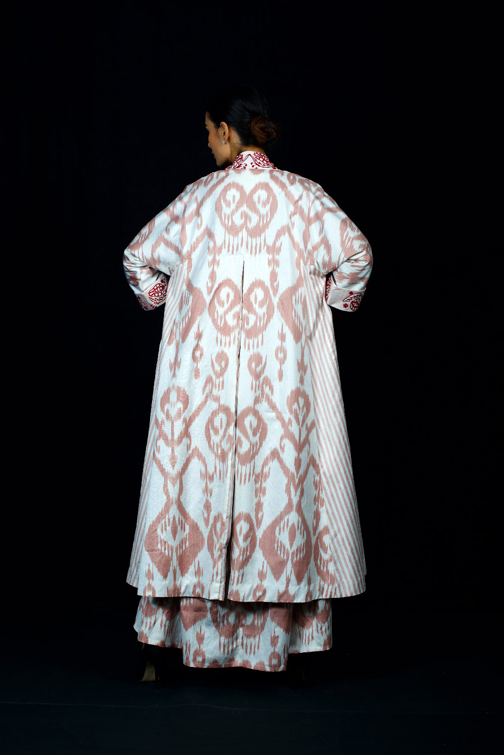 Ikat Robe with Embroidery