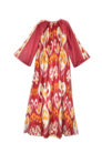 Amira Luxury Embroidered Suzani Ikat Maxi Dress IK345