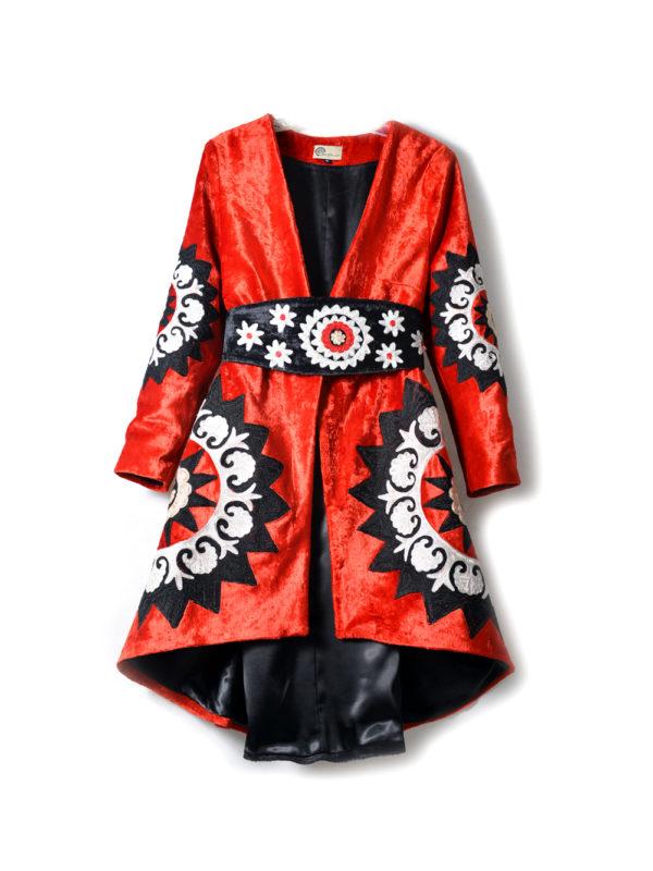 Suzani Embroidered Velvet Jacket