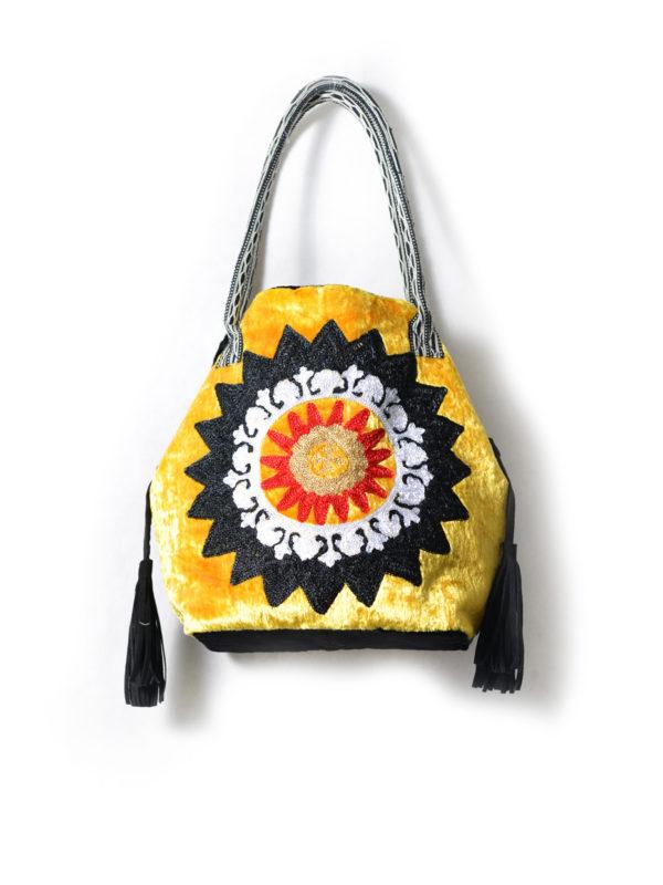 Abir Embroidered Velvet Bag