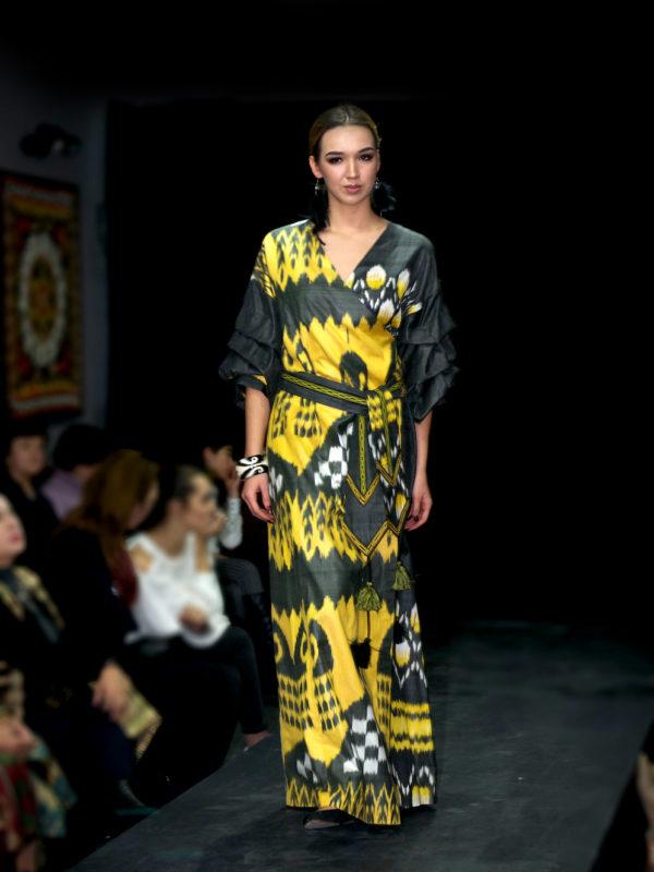 Qadira Maxi Ikat Dress