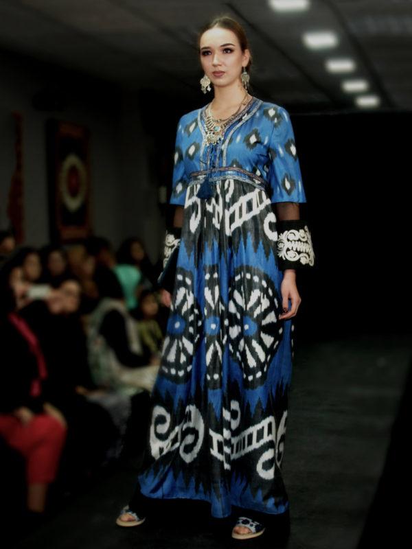 Maxi Dress Sheer Sleeve IK555 runway look