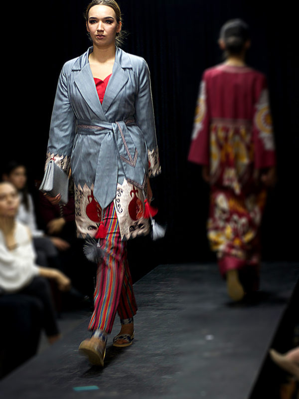 Pomegranate Embroiedered Jacket Runway