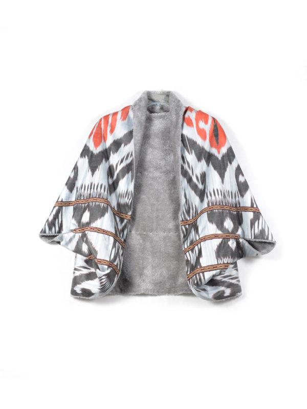 Warm Silk Bolero Shawl IK561