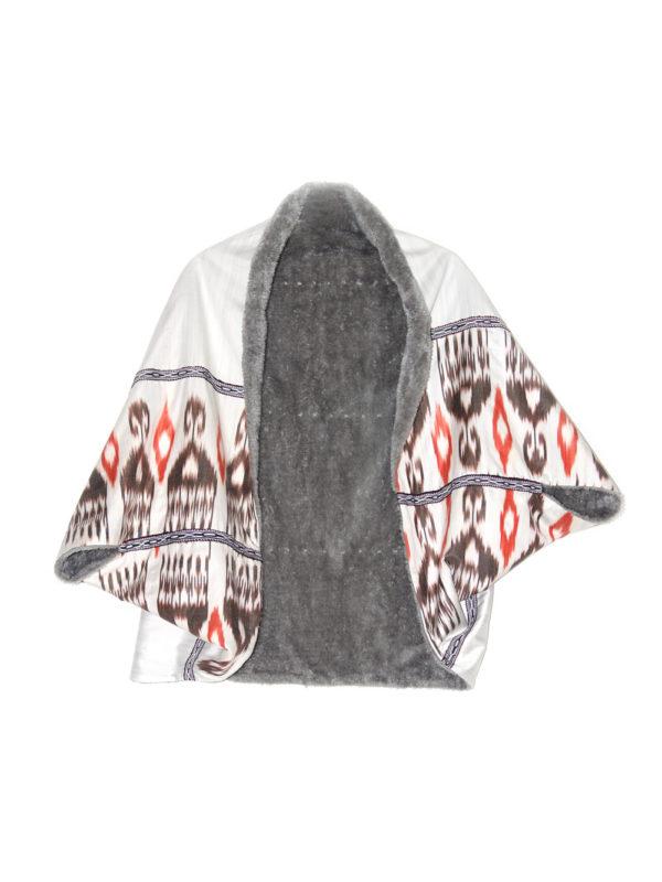 Warm Silk Bolero Shawl IK562 front