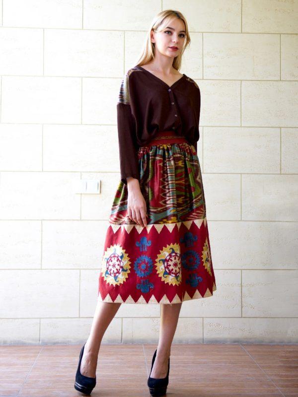Madina Embroidered Skirt