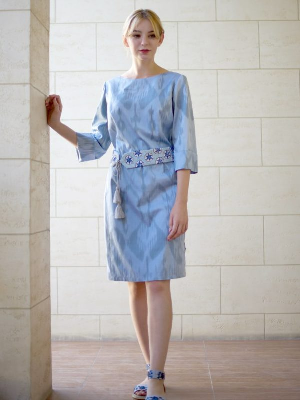 Ikat Fitted Dress