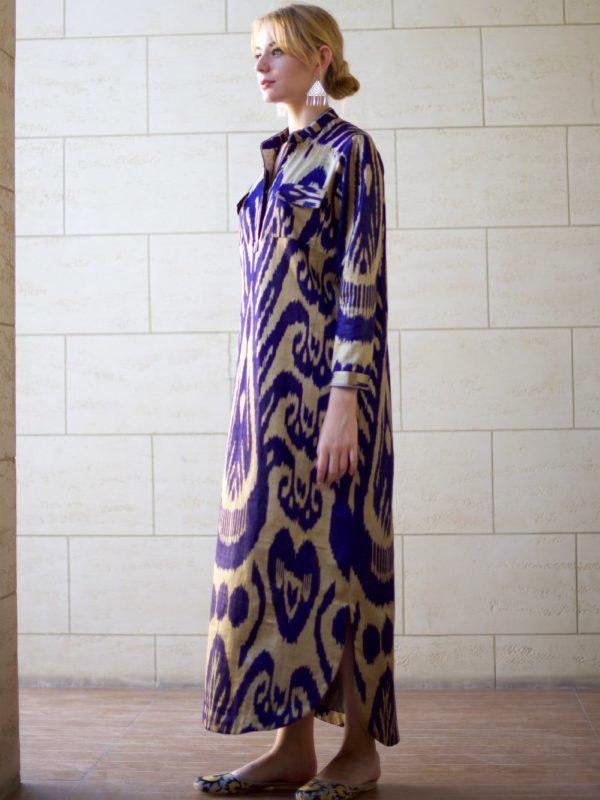 Khadija Ikat Long Dress