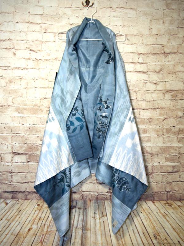 Silk Combo Ikat Vest