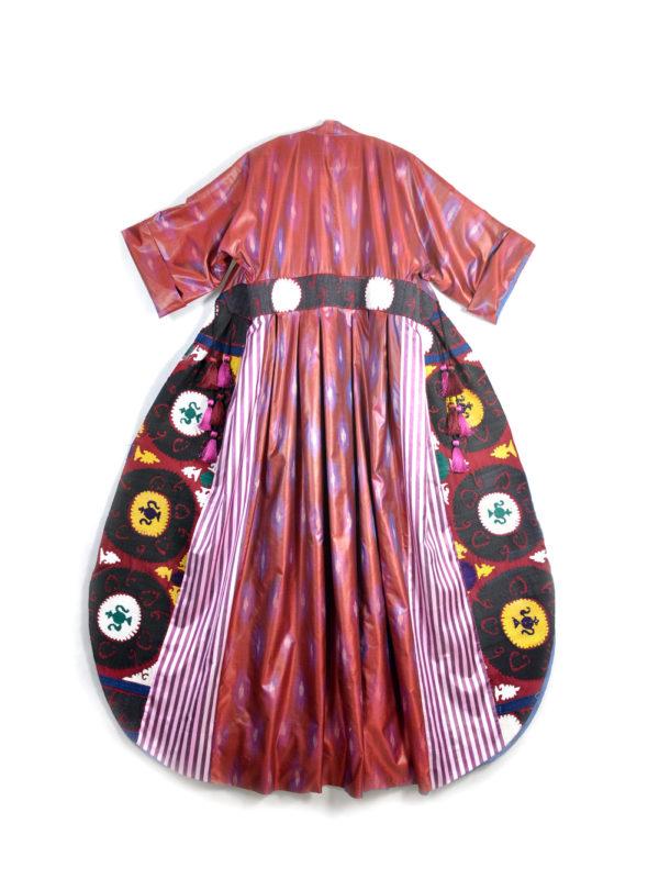 Bushra One-of-a-kind Embroidered Ikat Kaftan