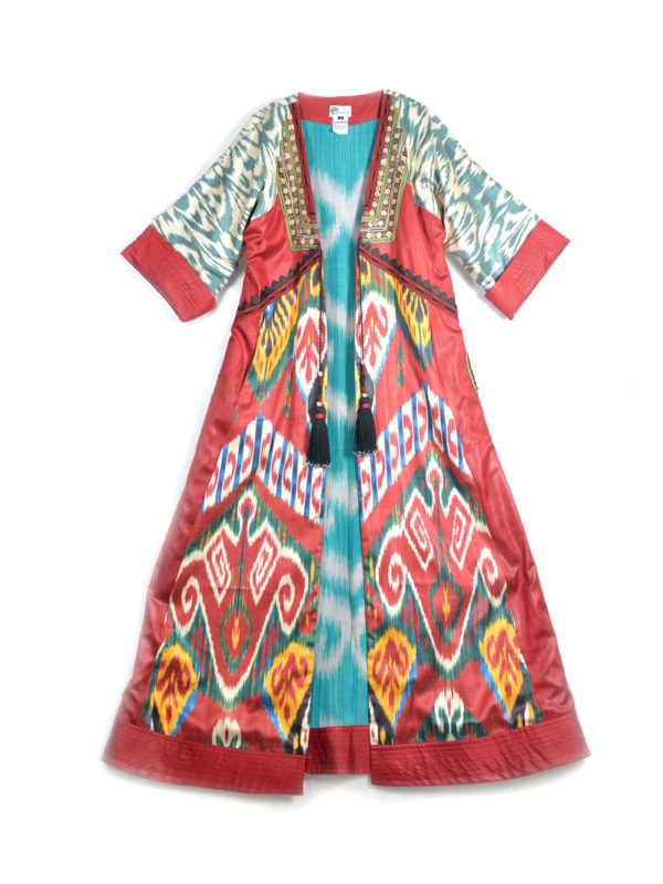 Amina One-of-a-kind Decorated Luxury Ikat Robe