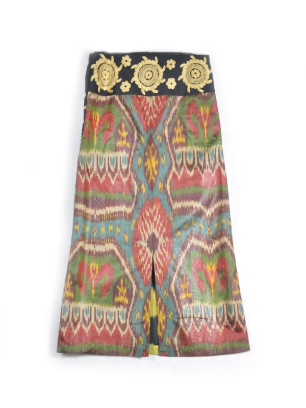 Ikat Skirt with Embroidery