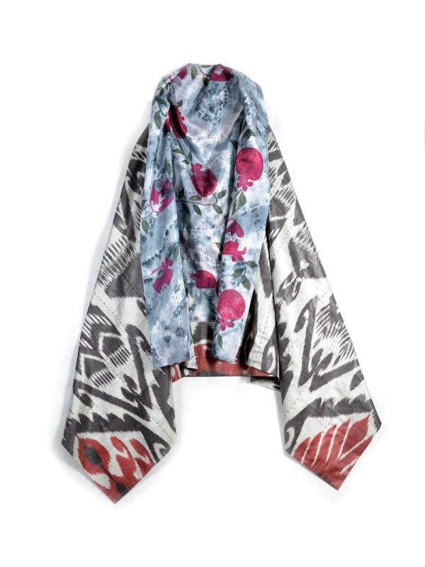 Reversible Silk Ikat Batik Vest