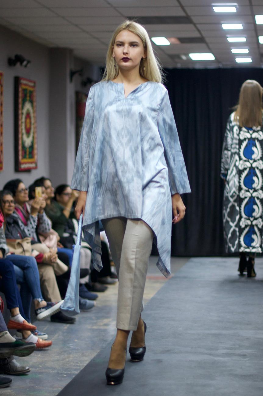 Asymmetrical Ikat Tunic