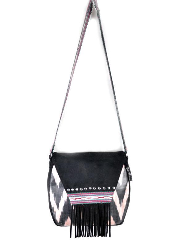 Ikat Messenger Bag with Fringes
