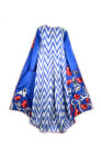 Amal Embroidered Maxi Jacket with Pleats