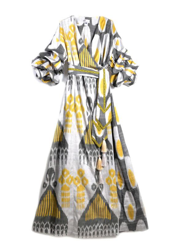 Qadira Luxury Ikat Maxi Dress