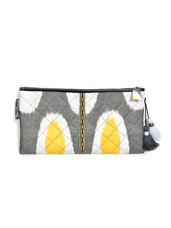 Quilted Ikat Clutch