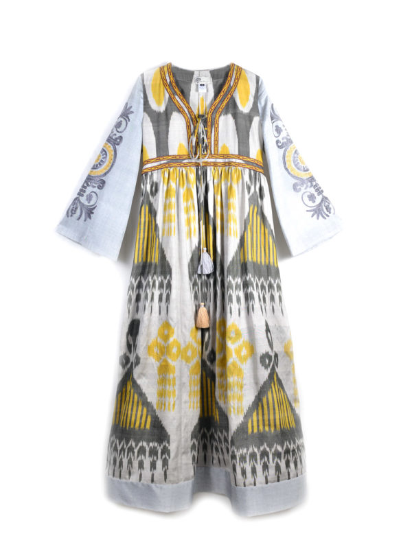 Ayesha Dress with Embroidered Sleeve IK612
